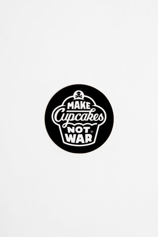 Mini War Round Sticker (black)