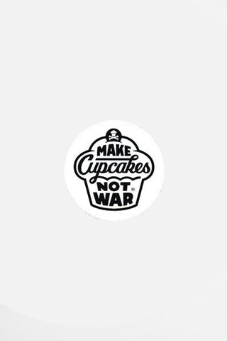 Mini War Round Sticker (white)
