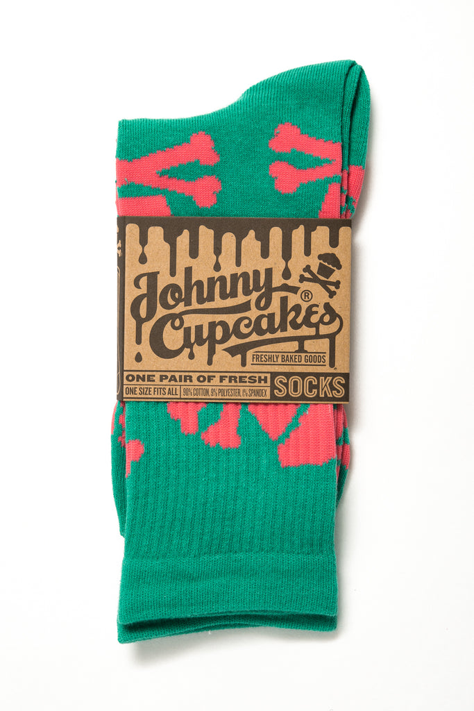 Watermelon Crossbones Socks
