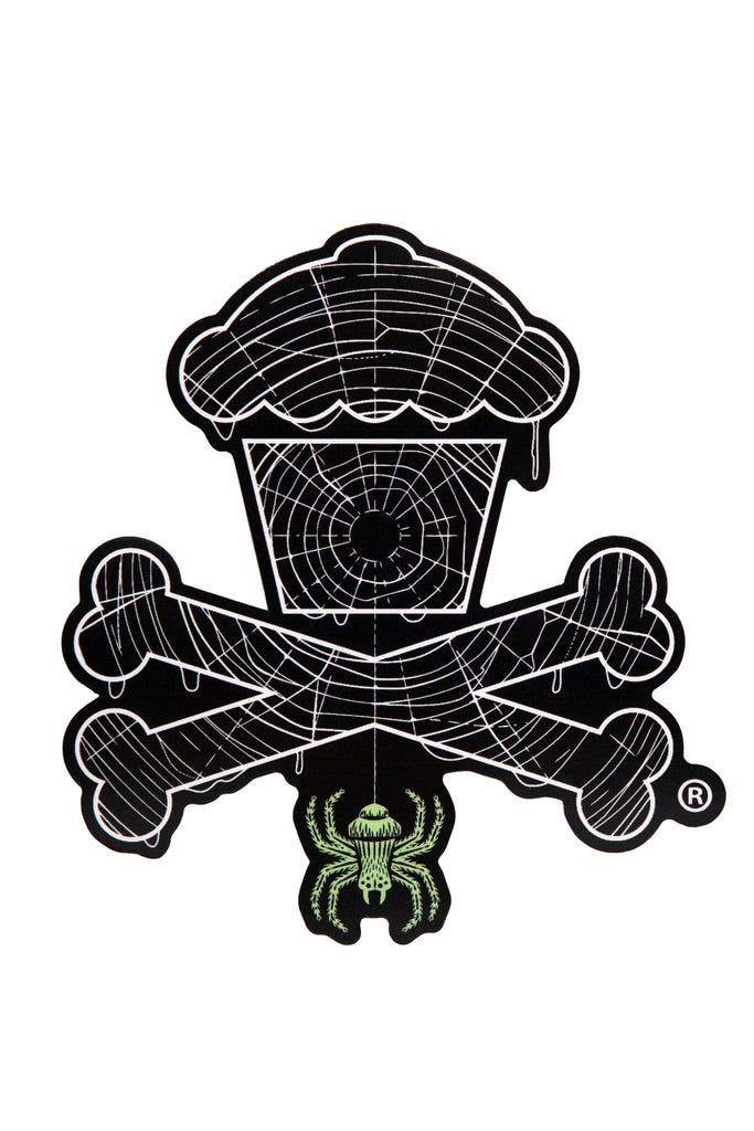 Spiderweb Crossbones Sticker