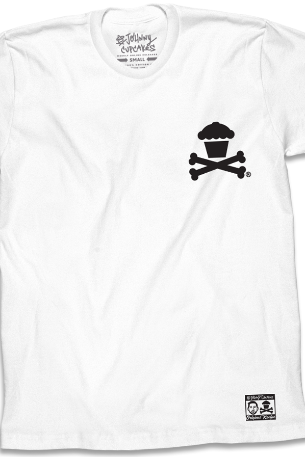 Basic Crossbones (White Tee / Black Ink)