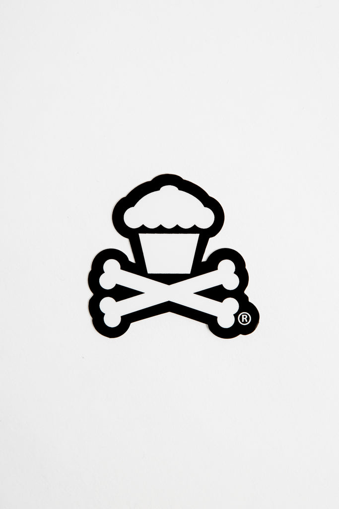 Mini Crossbones Sticker (black)