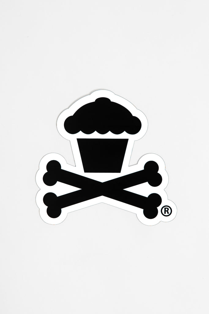 Crossbones Sticker (white)