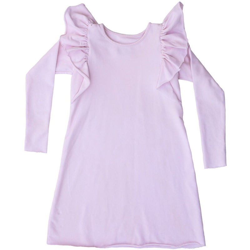 ORGANIC VALENTINA DRESS LONG SLEEVES PINK - Be Mi Los Angeles