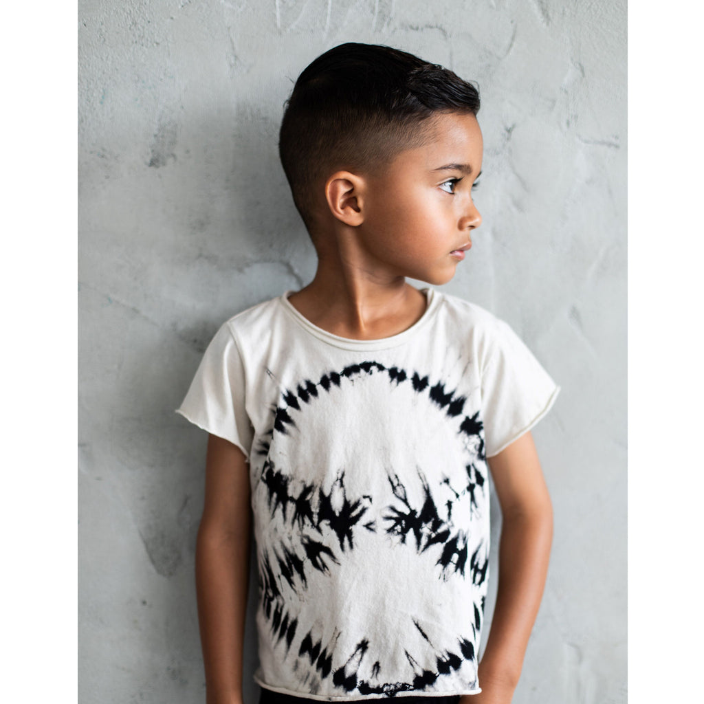 RAW EDGE TEE ZEBRA LIGHT