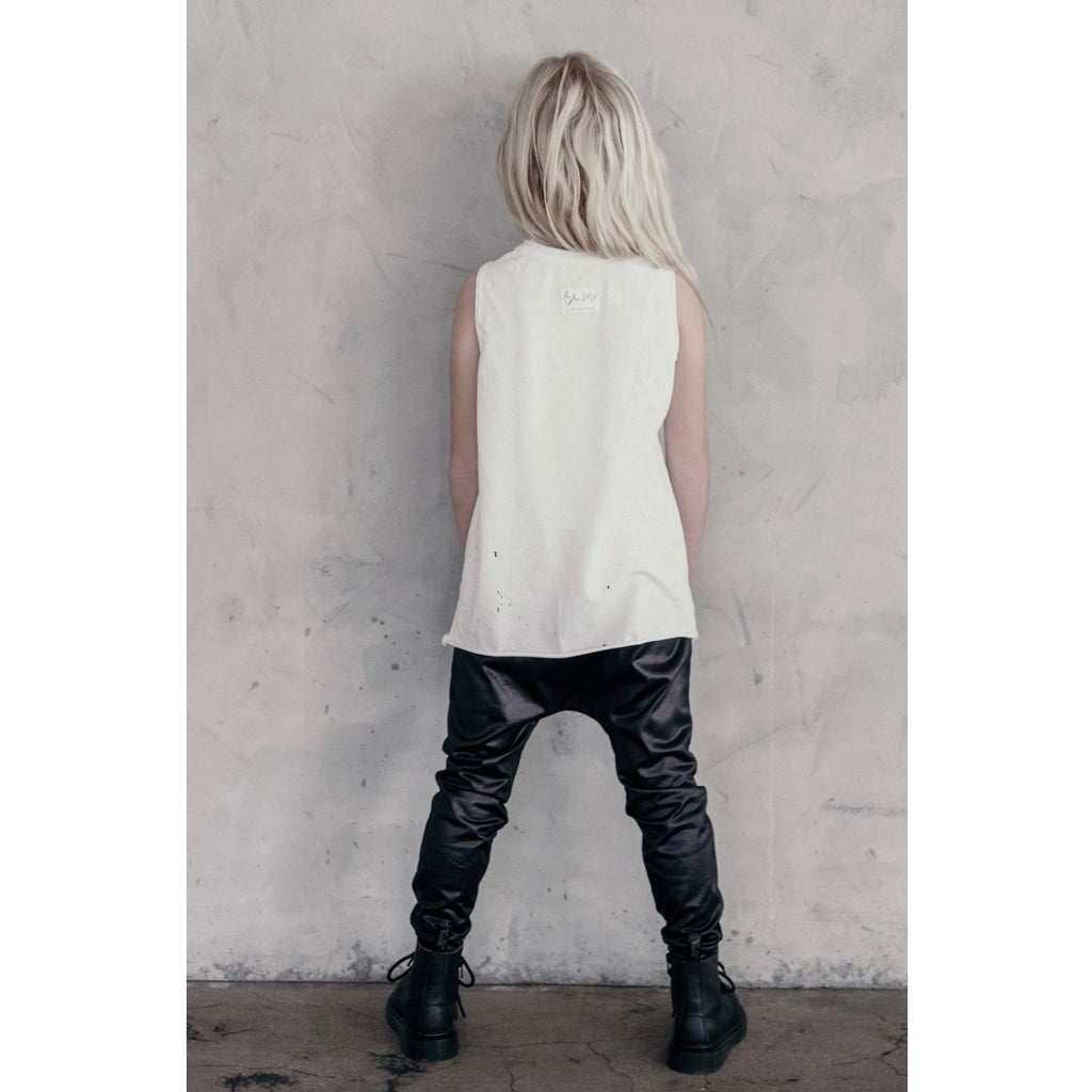 RAW EDGE BURNOUT TANK WHITE - Be Mi Los Angeles