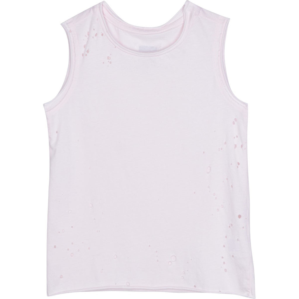 RAW EDGE BURNOUT TANK PINK