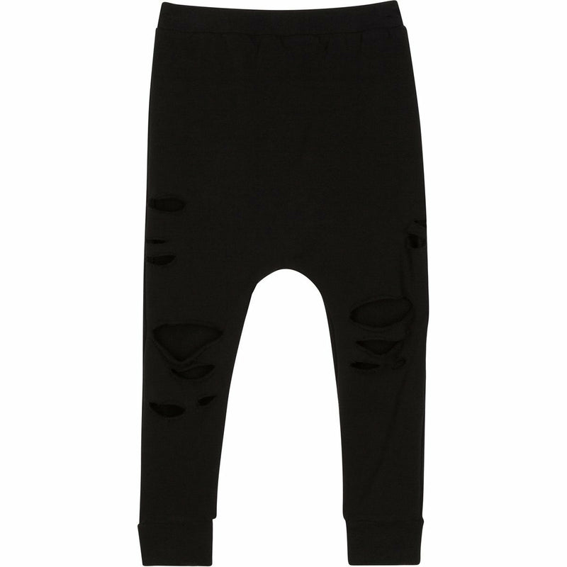 ORGANIC MALIBU JOGGERS DISTRESSED BLACK - Be Mi Los Angeles