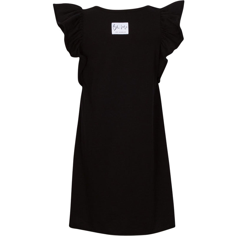 VALENTINA RUFFLE DRESS BLACK - Be Mi Los Angeles