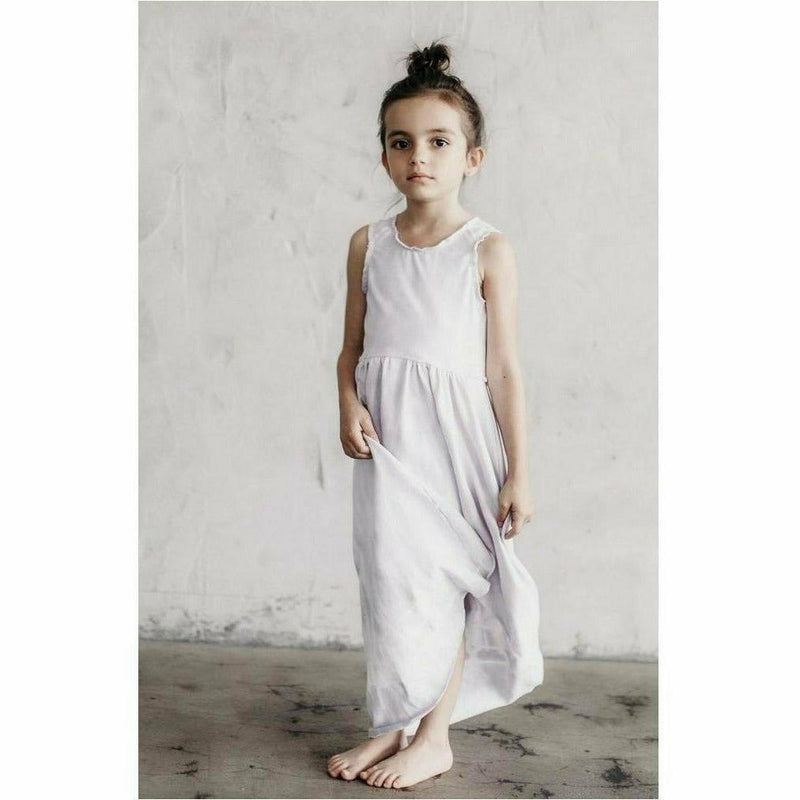 ORGANIC GISELLE DRESS PASTEL TIE DYE - Be Mi Los Angeles
