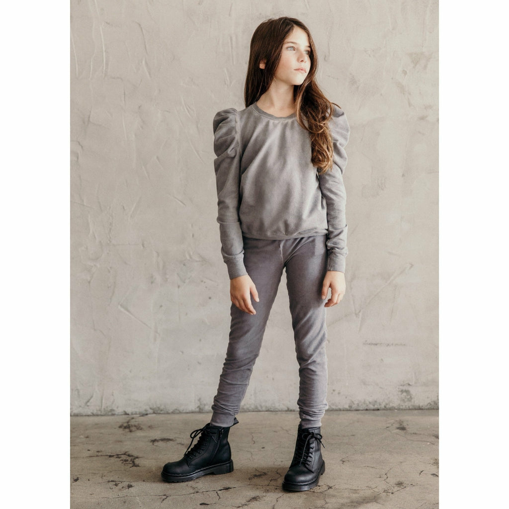 ORGANIC SKINNY JOGGERS OIL WASH GREY - Be Mi Los Angeles