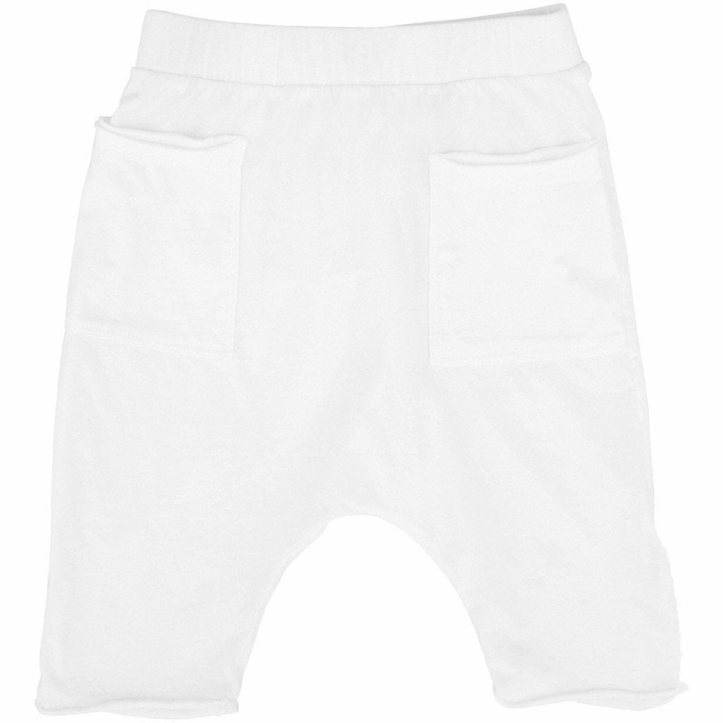 COTTON POCKET SHORTS WHITE - Be Mi Los Angeles
