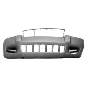 1999-2003 JEEP GRAND CHEROKEE Front Bumper Cover Grand Cherokee Laredo  w/o Fog Lamps  Dark Gray Painted to Match
