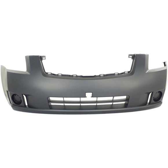 2007-2009 NISSAN SENTRA Front Bumper Cover w/o Fog Lamps Painted to Match