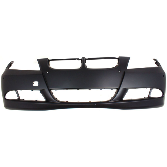 2006-2008 BMW 3-SERIES Front Bumper Cover 4dr sedan/wagon  w/pk distance control  w/o headlamp washer Painted to Match