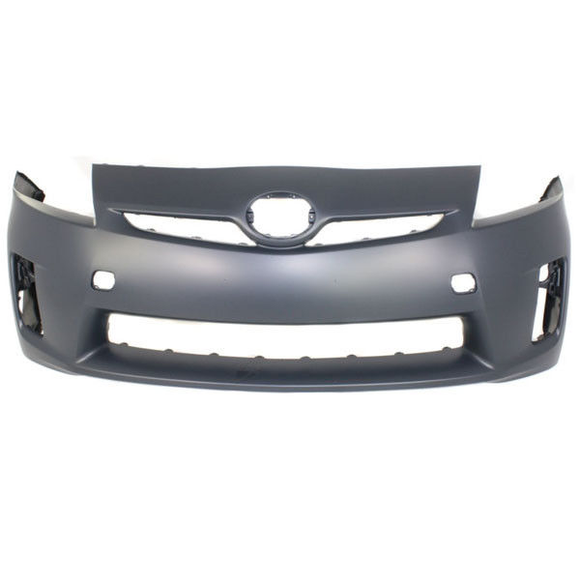 2010-2011 TOYOTA PRIUS Front Bumper Cover Halogen H/Lamps  w/o Pre-Collision System Painted to Match
