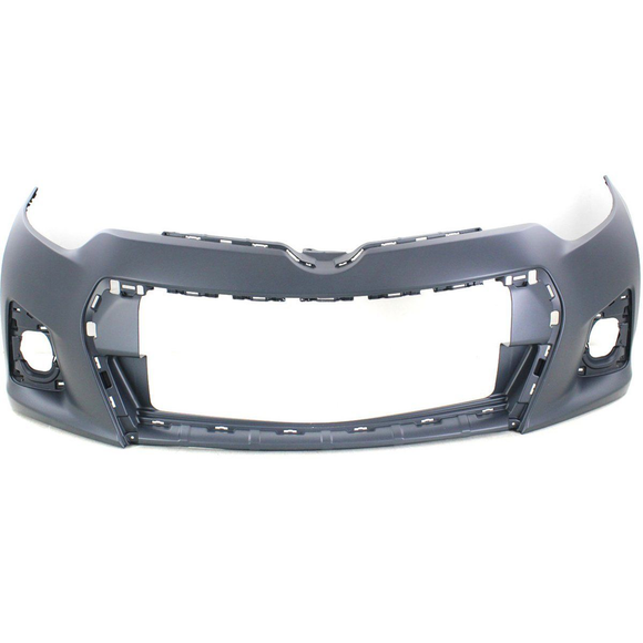 2014-2016 TOYOTA COROLLA Front Bumper Cover S  w/Chrome Grille Surround Painted to Match