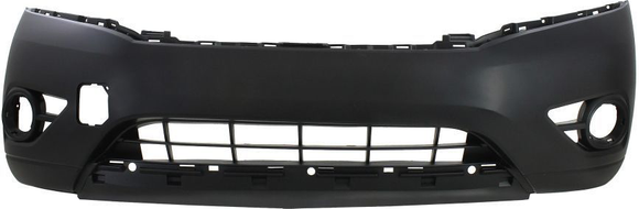 2013-2015 NISSAN PATHFINDER Front Bumper Cover w/Parking Sensors  w/o Trailer Tow Pkg  Smooth Upper  Textured Lower Painted to Match