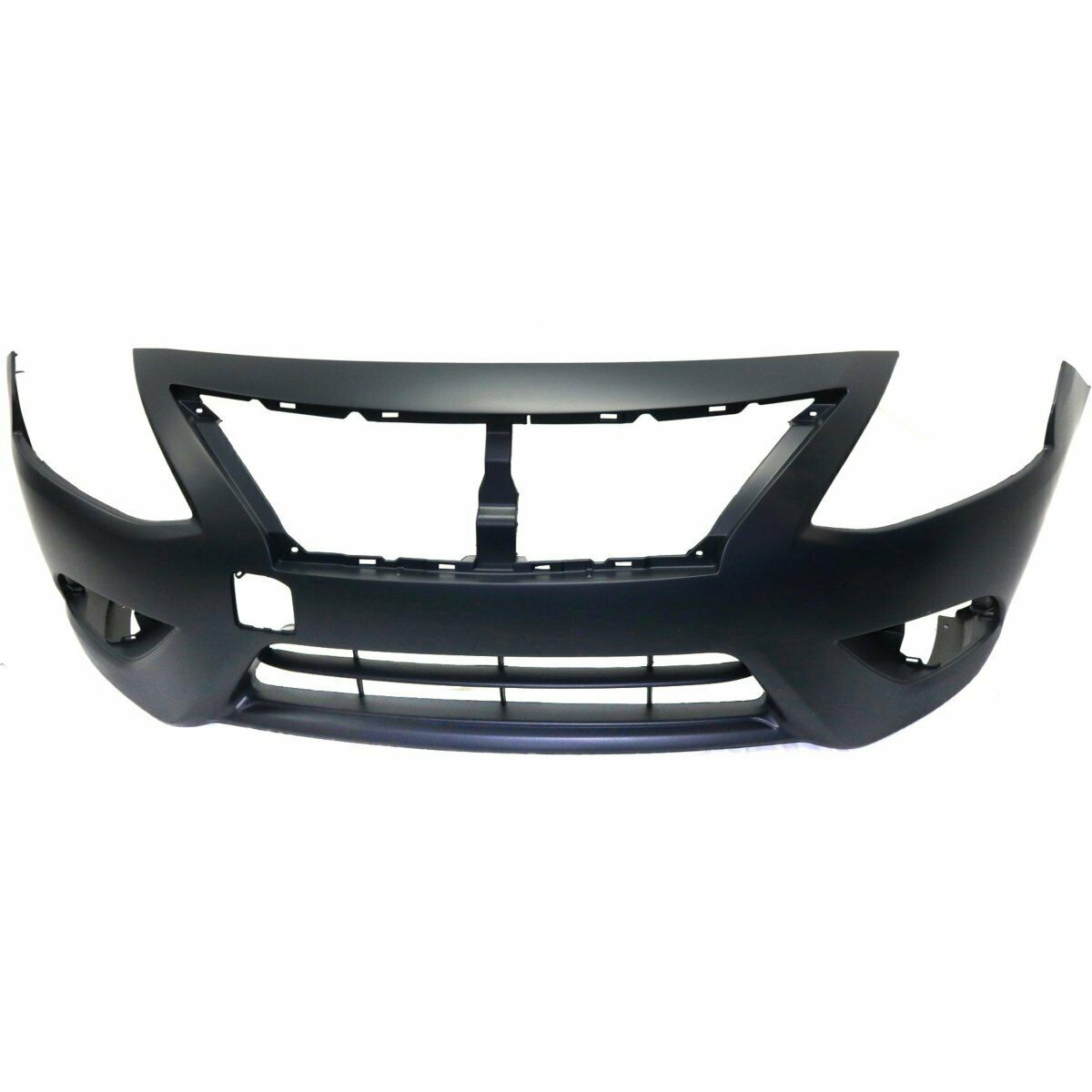 2015-2019 Nissan Versa w/oMldg Hole Front Bumper Painted to Match