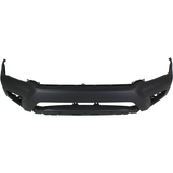 2012-2015 TOYOTA TACOMA Front Bumper Cover BASE  w/o Wheel Opening Flares  Fine Textured Black Painted to Match