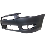 2008-2015 MITSUBISHI LANCER Front Bumper Cover DE|ES  w/o Air Dam Holes Painted to Match