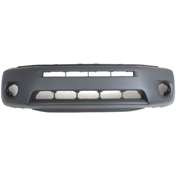2004-2005 TOYOTA RAV4 Front Bumper Cover w/fender flares  matte-dark gray Painted to Match