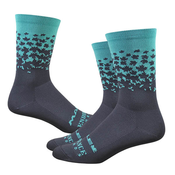 "Maple LOTW 6"" Race Sock - Neptune & Charcoal"