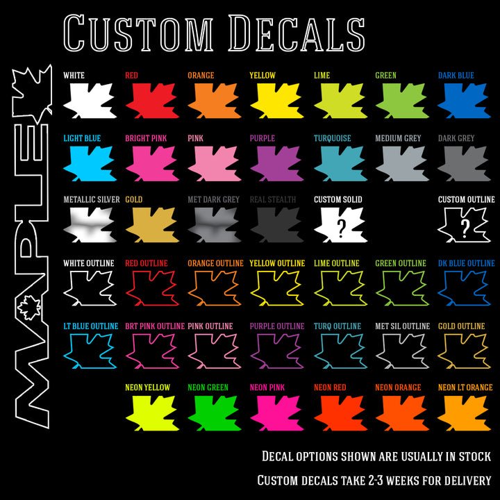 Maple Replacement Decals