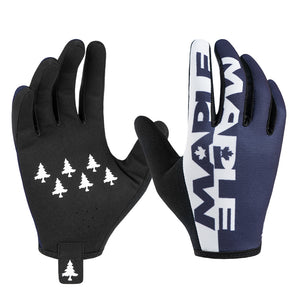 Maple Gloves - Navy & White