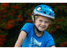 Load image into Gallery viewer, Hornit Lids Helmet - Hammerhead Shark Kids Bike and Skate Helmet with LED Light
