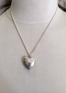 Medium Silver chunky heart