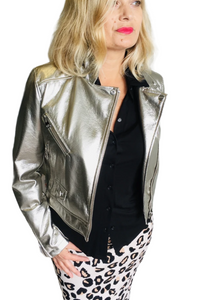 Short Silver Metallic Jacket