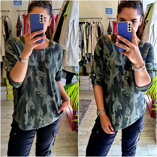 Camouflage 2 piece top