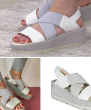 Load image into Gallery viewer, Fly London peep toe wedge