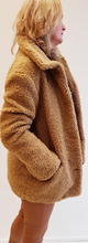 Load image into Gallery viewer, Short Tobacco Teddy Jacket.