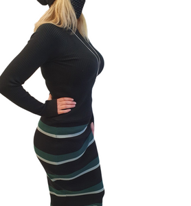 Stripped pencil skirt 2 colours.