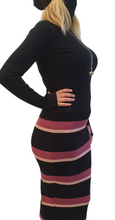 Load image into Gallery viewer, Stripped pencil skirt 2 colours.