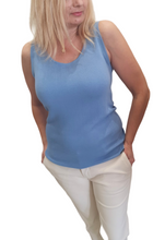 Load image into Gallery viewer, Blue Lurex Knit Top