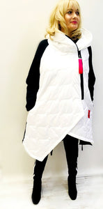 Winter White Quilted Coat