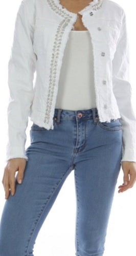 Stretch White denim jacket