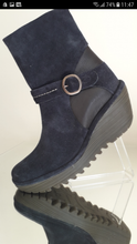 Load image into Gallery viewer, Navy ankle boot