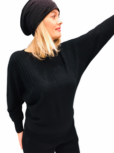 Batwing Black Sweater