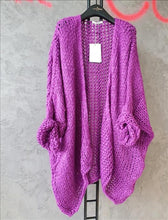 Load image into Gallery viewer, Open knit Purple Cardigan