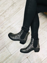 Load image into Gallery viewer, Dark metallic ankle boot