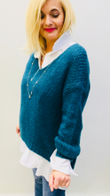 Load image into Gallery viewer, Teal Sweater