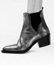 Load image into Gallery viewer, Metallic Gunmetal ankle boot
