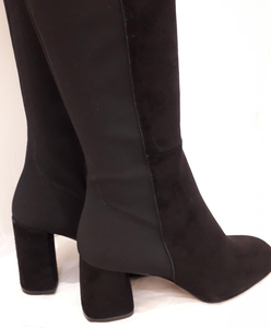 Classic Italian Stretch long leather boots
