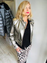 Load image into Gallery viewer, Short Silver Metallic Jacket