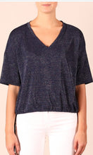 Load image into Gallery viewer, Metallic Navy top