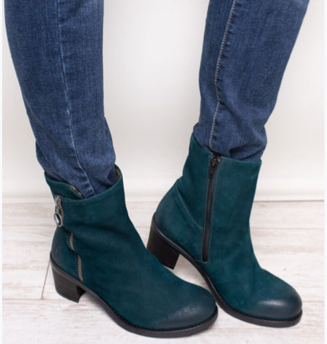Fly London washed Green Suede boot
